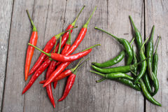 Red and green chili Royalty Free Stock Image
