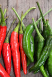 Red and green chili Royalty Free Stock Images