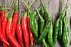 Red and green chili Royalty Free Stock Photos