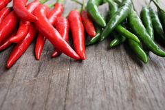 Red and green chili Stock Photo