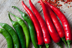 Red and Green Chili Pepper Royalty Free Stock Photos