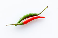 Red&Green Chili Pepper Stockbilder