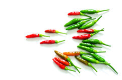 Red and green chili pepper. Background Royalty Free Stock Photography