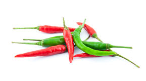 Red and green chili pepper Stock Photo