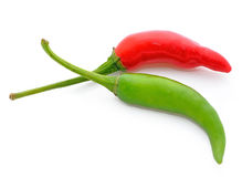 Red and green chili pepper Royalty Free Stock Photography