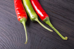 Red and green chili pepper Stock Photography
