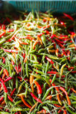 Red and green chili peppers. In thailand Royalty Free Stock Photos