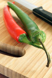 Red & Green Chillies Royalty Free Stock Images