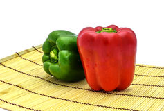 Red and green chilli Stock Images