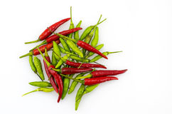Red and green chilli stock photo