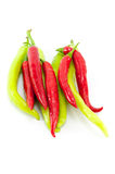 Red and Green Chilli Peppers Royalty Free Stock Image