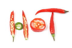 Red and green chilli Royalty Free Stock Image