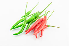 Red and Green Chillies Stock Image