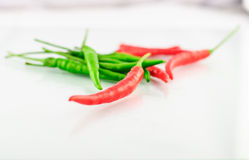 Red and Green Chillies Royalty Free Stock Photo