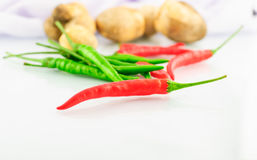 Red and Green Chillies Royalty Free Stock Photography