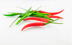 Red and Green Chillies Stock Photo