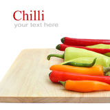 Red & green chillies peppers Royalty Free Stock Photos