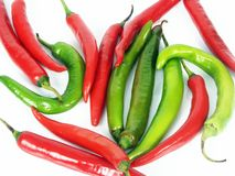 Free Red Green Chilly Royalty Free Stock Photography - 14337777