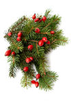 Red-green christmas arragement Royalty Free Stock Image