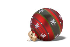 Red and green Christmas ball Royalty Free Stock Photos