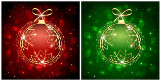 Red and green Christmas balls Royalty Free Stock Image