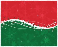 Red Green Christmas Card vector illustration