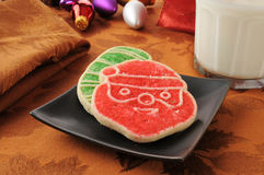 Red and green Christmas  Cookies Royalty Free Stock Photography
