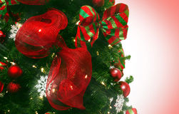 Red and Green Christmas decor Royalty Free Stock Photos