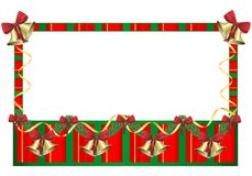 Red and green Christmas frame, cdr vector Stock Photos