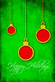 Red and green Christmas illustration for use as background Stock Images