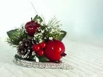Red and green Christmas ornament Royalty Free Stock Photos