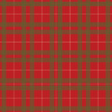 Red and green christmas plaid pattern vector Royalty Free Stock Photos