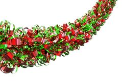 Red And Green Christmas Ribbon Royalty Free Stock Images