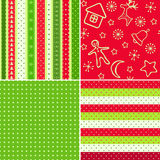 Red-green Christmas seamless. Royalty Free Stock Photo