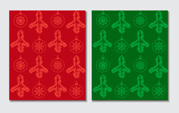 Christmas themed seamless patterns Royalty Free Stock Photo
