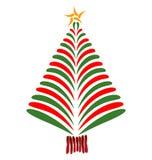 Red & Green Christmas Tree Stock Image