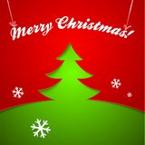 Red and green Christmas tree vector applique Royalty Free Stock Photos
