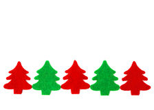 Red and green christmas trees with copy space Royalty Free Stock Photography