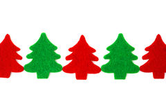 Red and green christmas trees Stock Photography