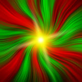 Red & Green Christmas Vortex with a Starburst Stock Photos