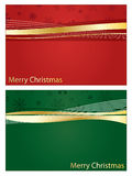 Red and green christnas banners Royalty Free Stock Photo