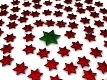 Red and green chritmas stars Stock Photos