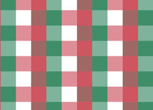 Red and green classic check pattern Stock Photography