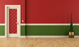 Red and green classic room Stock Photography