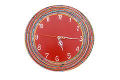 Red green clock Stock Image