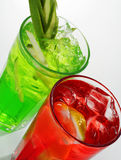Red and Green Cocktail Royalty Free Stock Photography