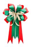 Red and green color bow Royalty Free Stock Photo