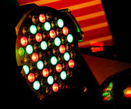 Red and Green color lights from spotlights Stock Image