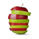 Red and green cut apples Royalty Free Stock Photo