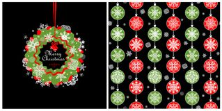Red and green design for winter holidays Royalty Free Stock Image